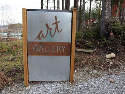 Telegraph Cove Art Gallery Sign